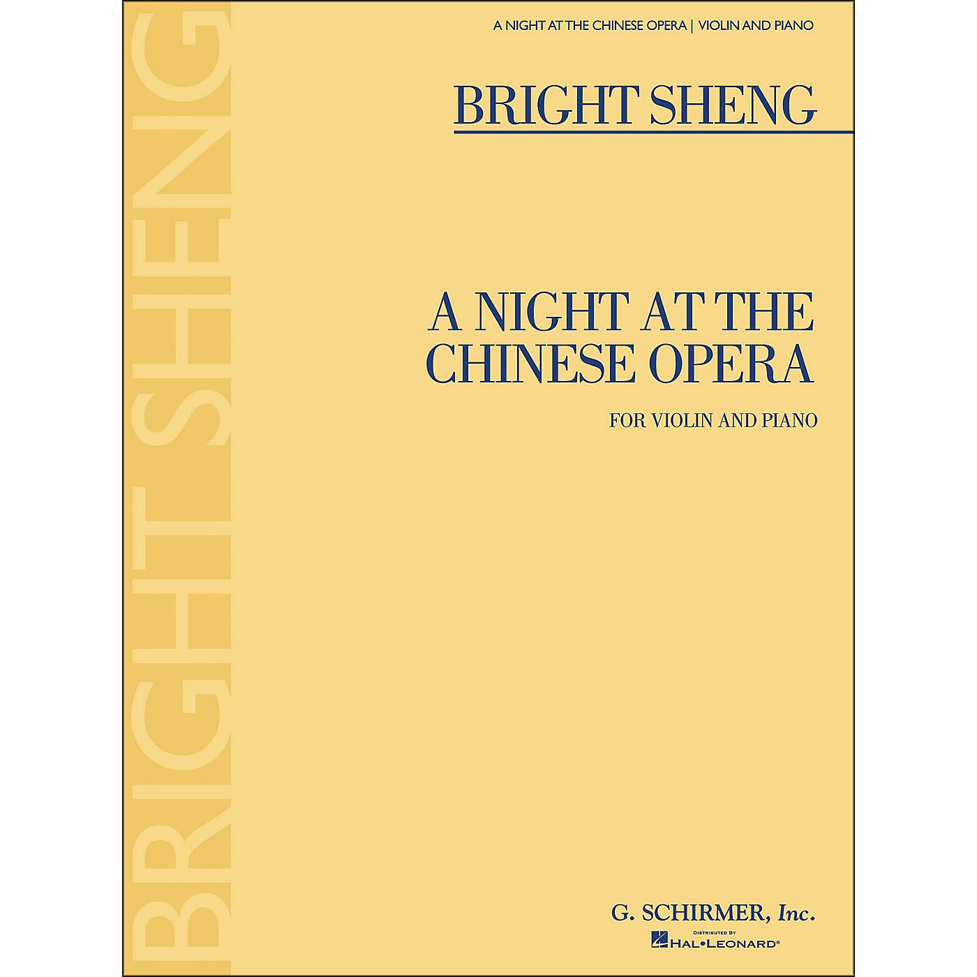 G. Schirmer A Night At The Chinese Opera for Violin And Piano By Sheng thumbnail