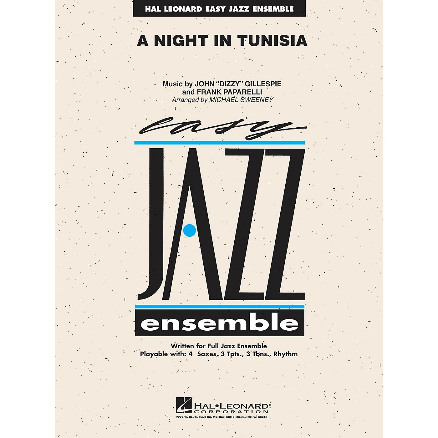 Hal Leonard A Night in Tunisia Jazz Band Level 2 by Dizzy Gillespie Arranged by Michael Sweeney thumbnail