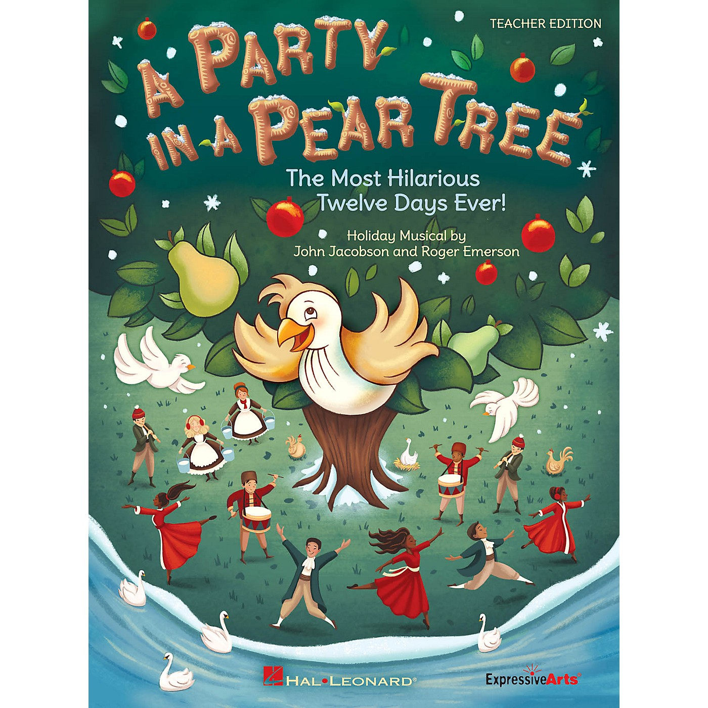 Hal Leonard A Party in a Pear Tree (The Most Hilarious Twelve Days Ever!) Singer 5 Pak Composed by John Jacobson thumbnail