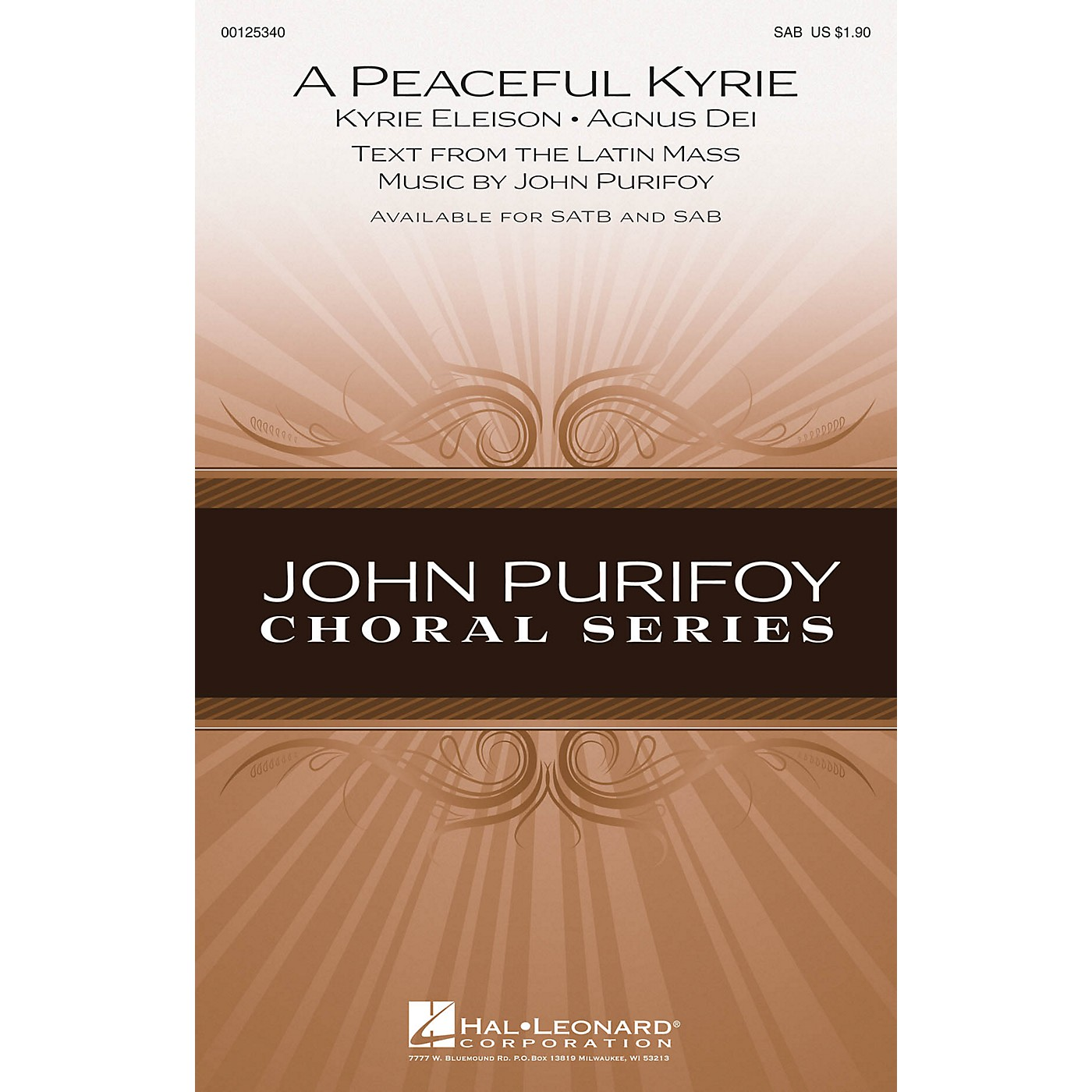 Hal Leonard A Peaceful Kyrie SAB composed by John Purifoy thumbnail