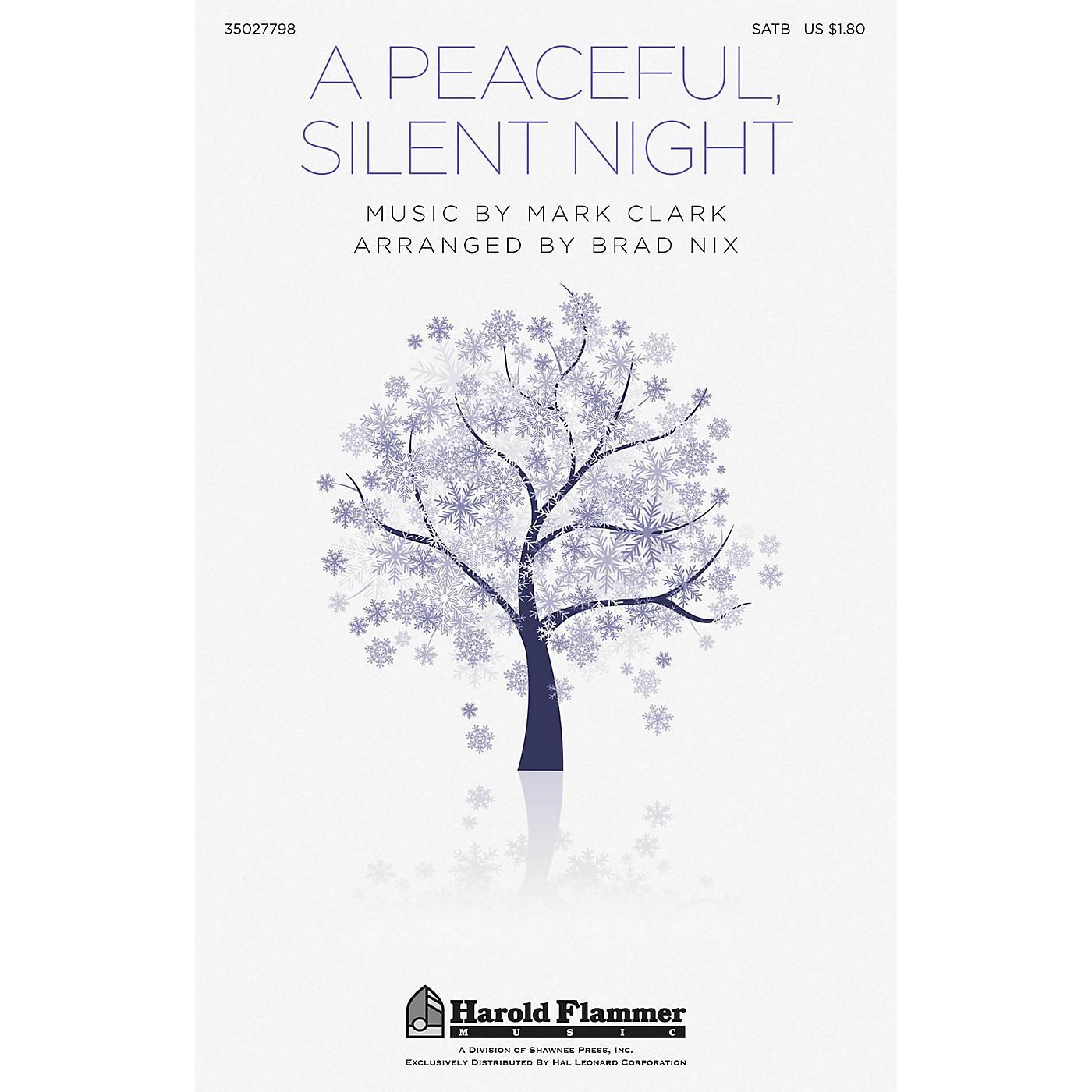 Shawnee Press A Peaceful, Silent Night SATB arranged by Brad Nix thumbnail