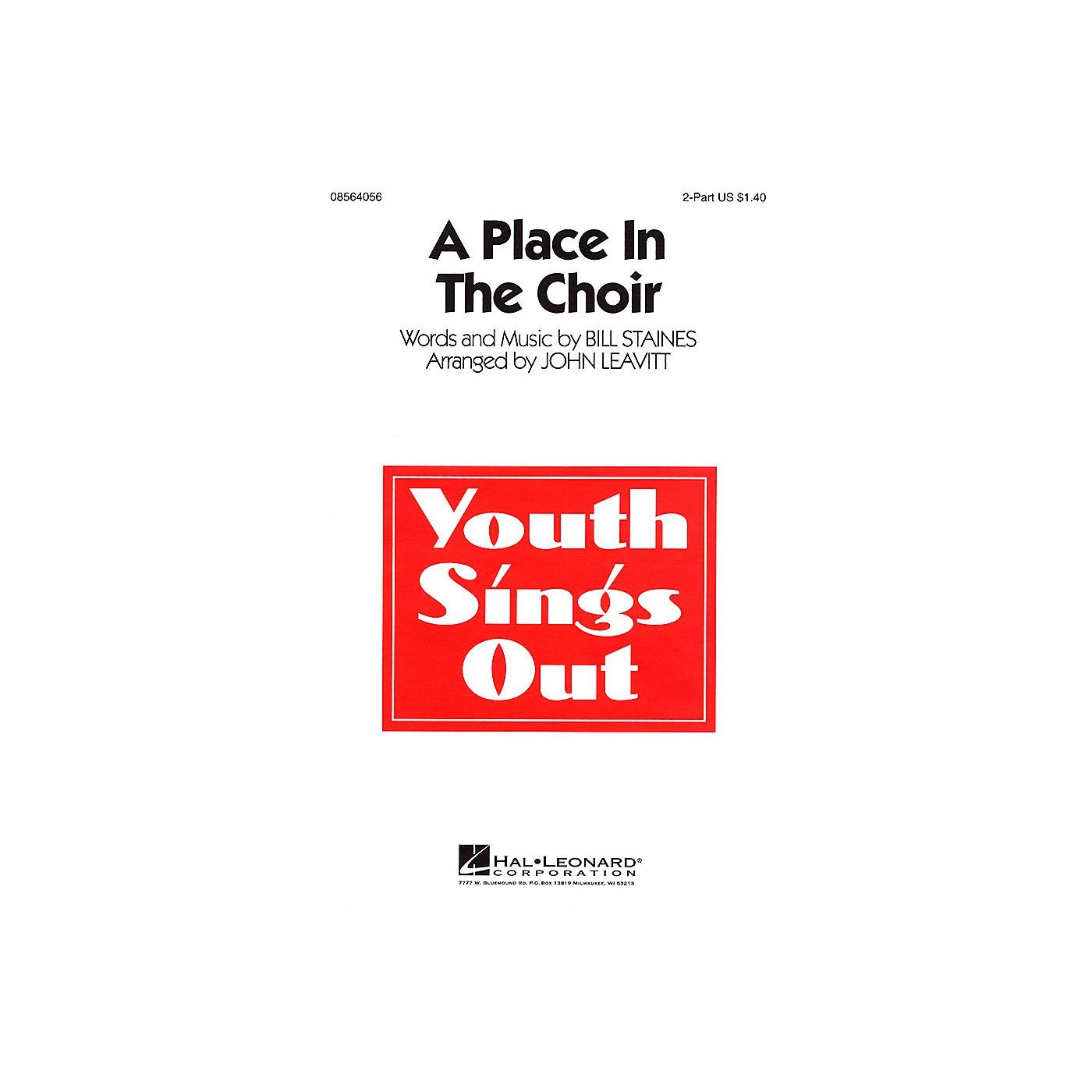 Hal Leonard A Place in the Choir 2-Part arranged by John Leavitt thumbnail