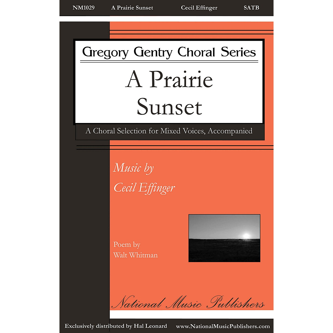National Music Publishers A Prairie Sunset SATB composed by Cecil Effinger thumbnail