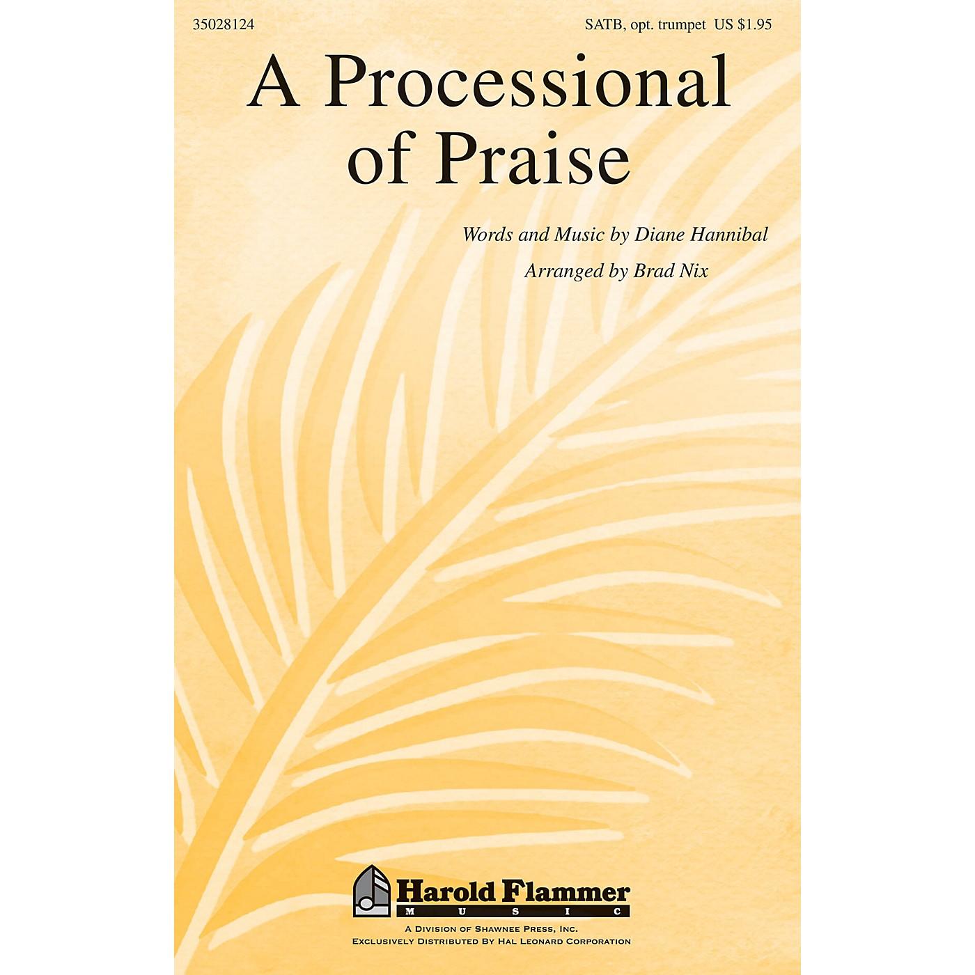 Shawnee Press A Processional of Praise SATB, TRUMPET arranged by Brad Nix thumbnail
