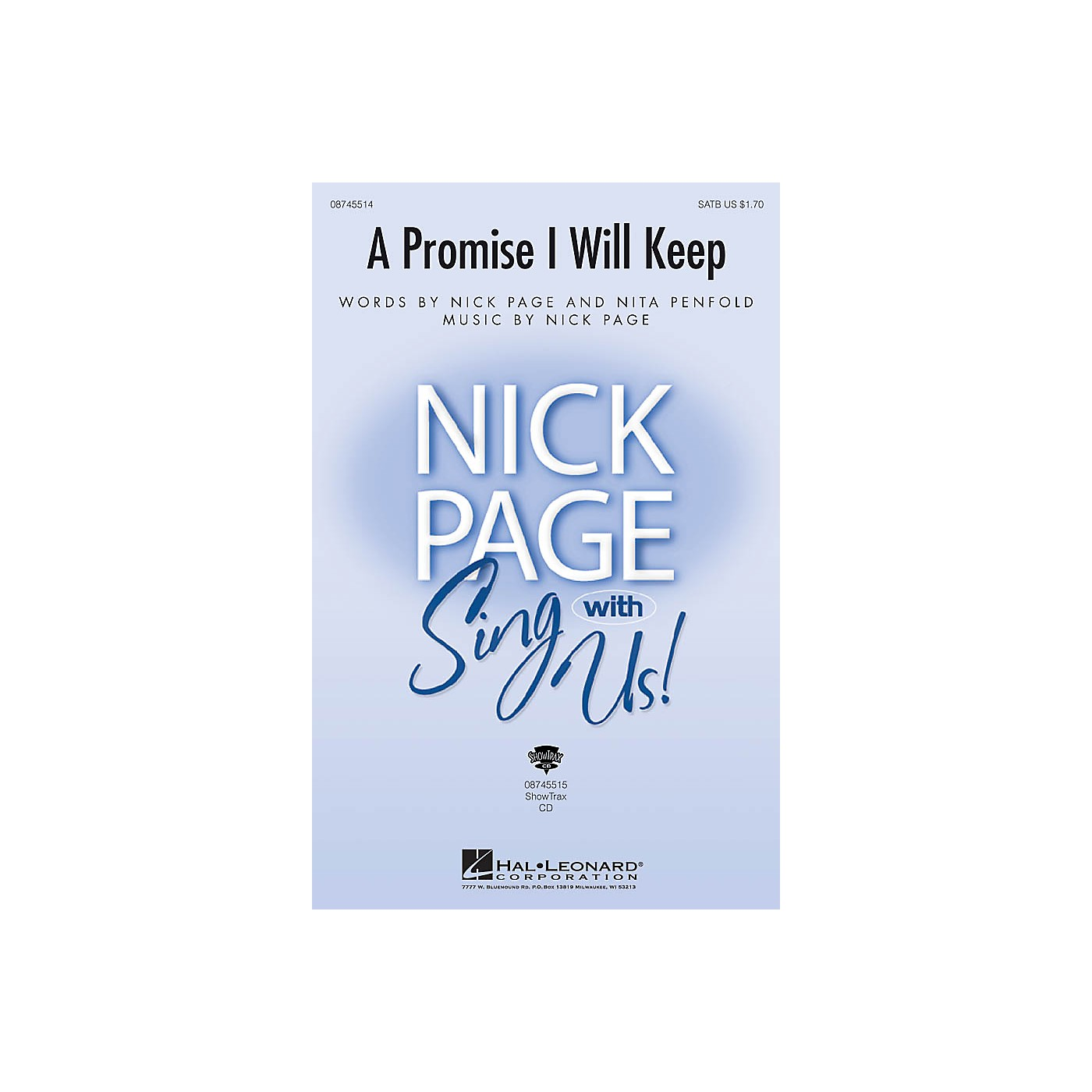 Hal Leonard A Promise I Will Keep SATB composed by Nick Page thumbnail