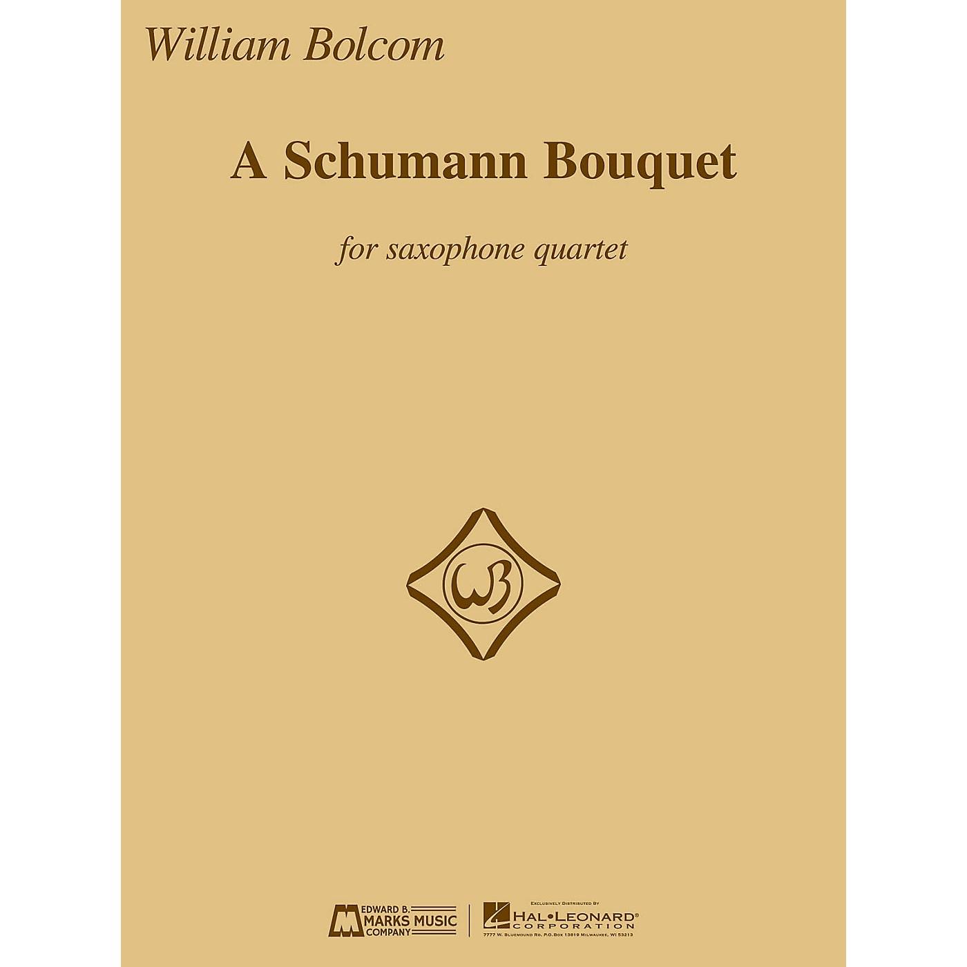 Edward B. Marks Music Company A Schumann Bouquet for Saxophone Quartet E.B. Marks Book  by Robert Schumann Arranged by William Bolcom thumbnail