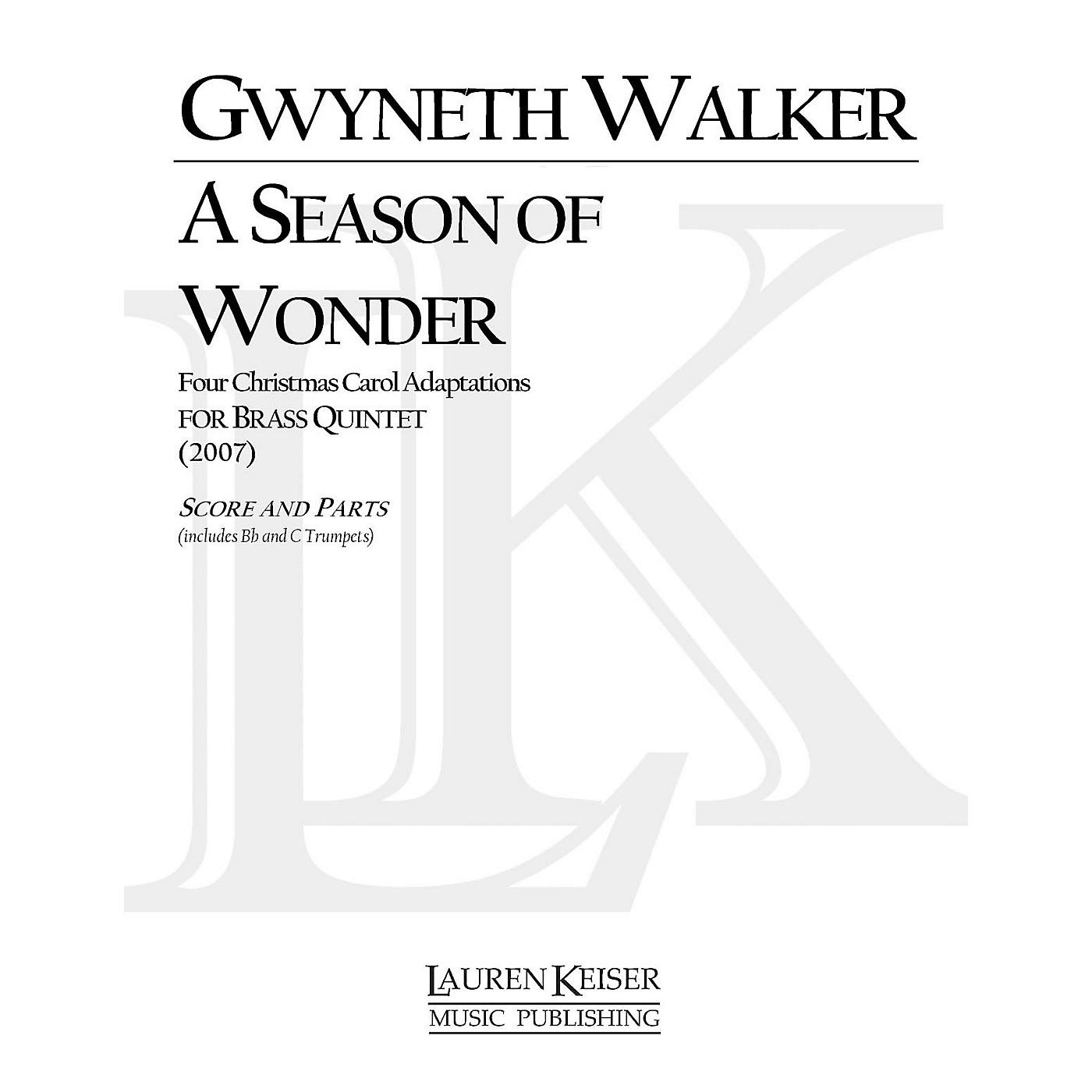 Lauren Keiser Music Publishing A Season of Wonder (for Brass Quintet) LKM Music Series by Gwyneth Walker thumbnail