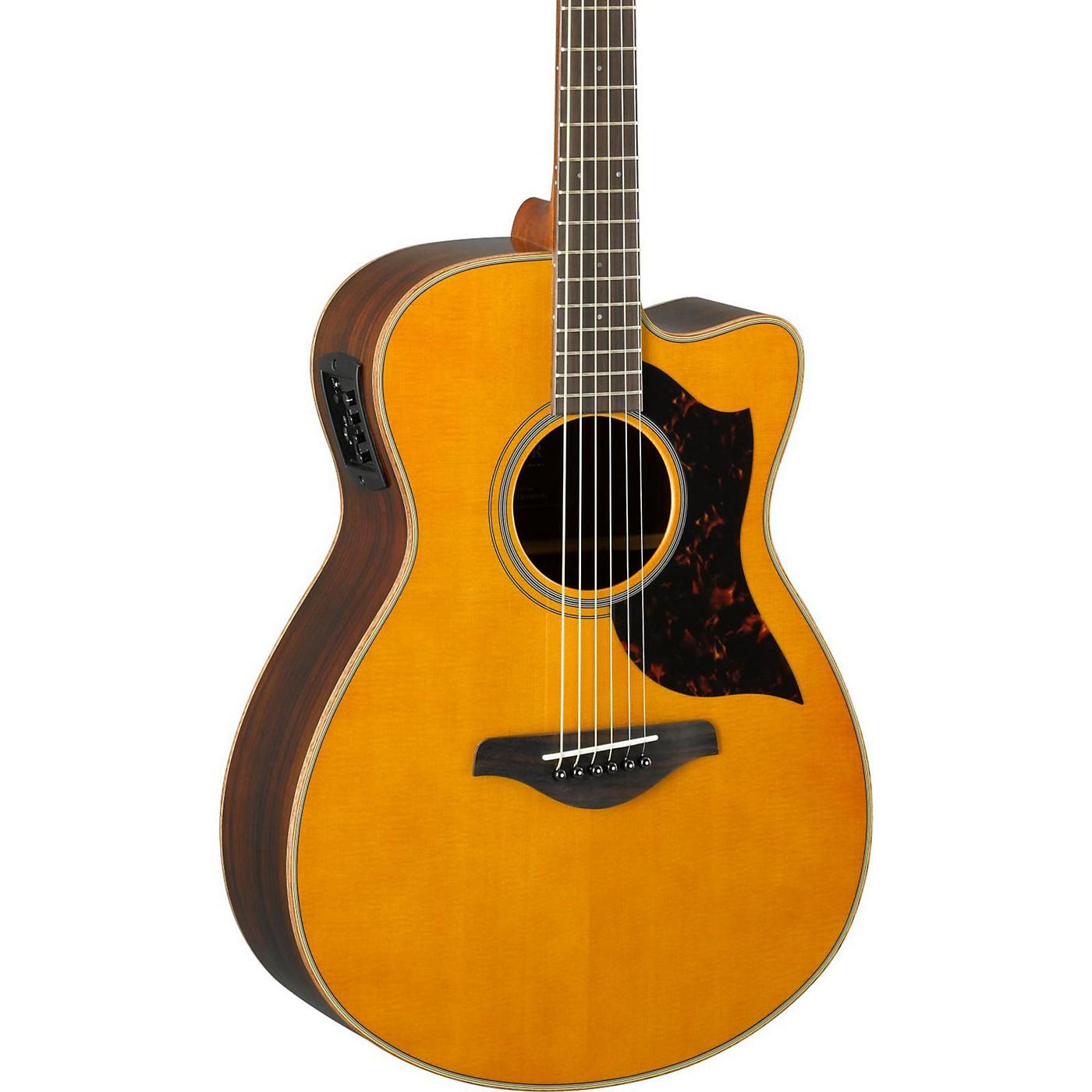 Yamaha A-Series AC1R Cutaway Concert Acoustic-Electric Guitar thumbnail