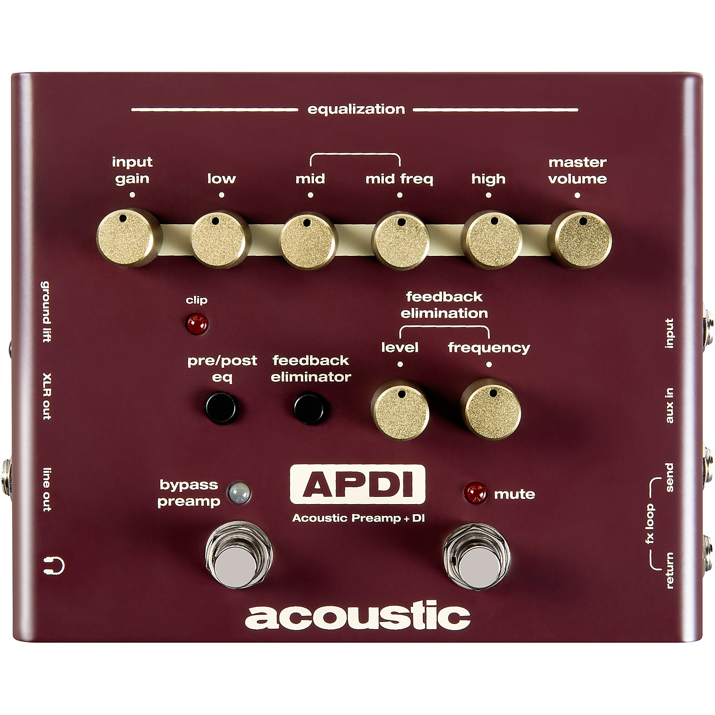 Acoustic A Series Acoustic Instrument Preamp and DI Pedal thumbnail