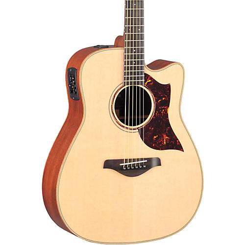 Yamaha A-Series All Solid Wood Dreadnought Acoustic-Electric Guitar with SRT Preamp/Pickup thumbnail