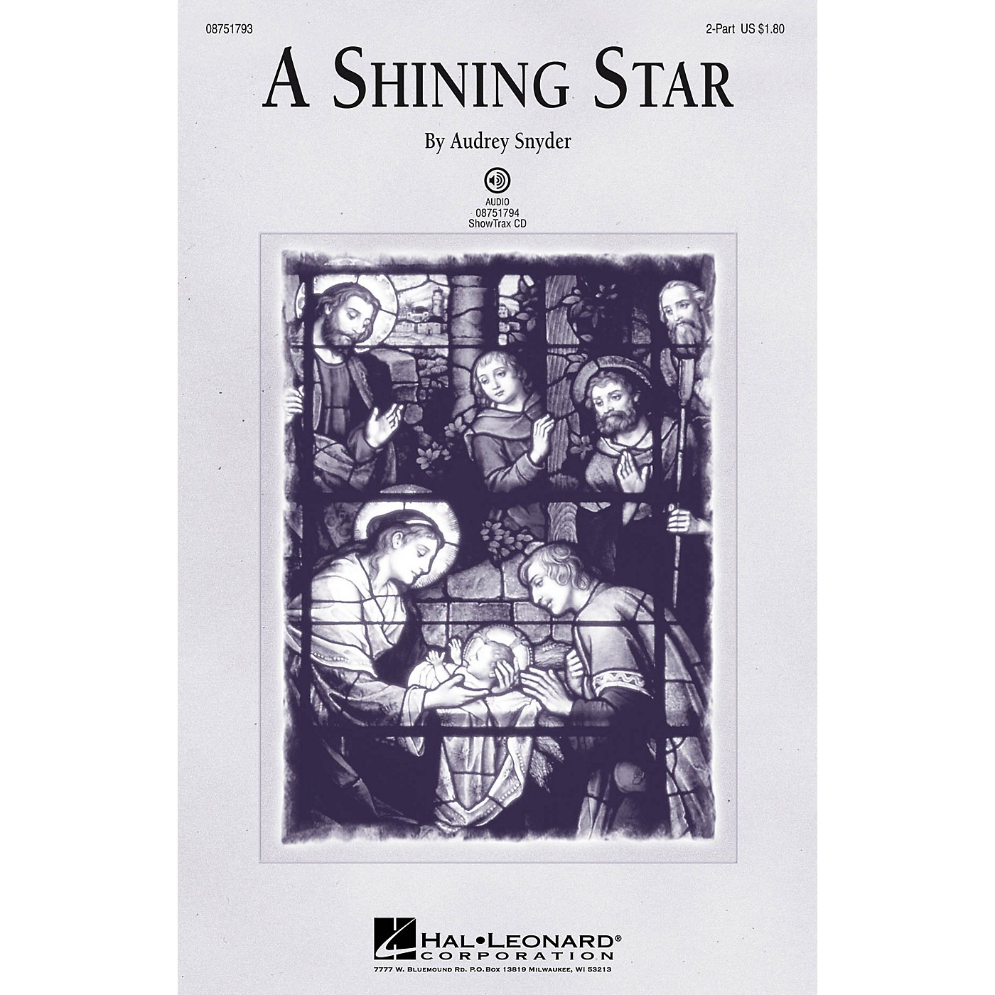 Hal Leonard A Shining Star 2-Part composed by Audrey Snyder thumbnail