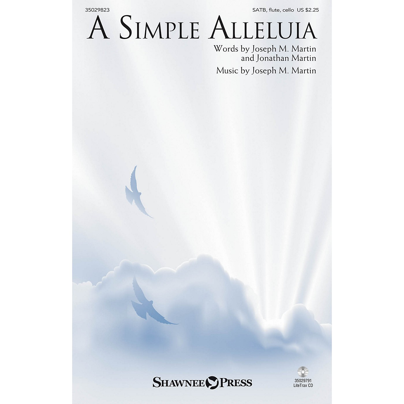 Shawnee Press A Simple Alleluia SATB W/ FLUTE AND CELLO composed by Jonathan Martin thumbnail