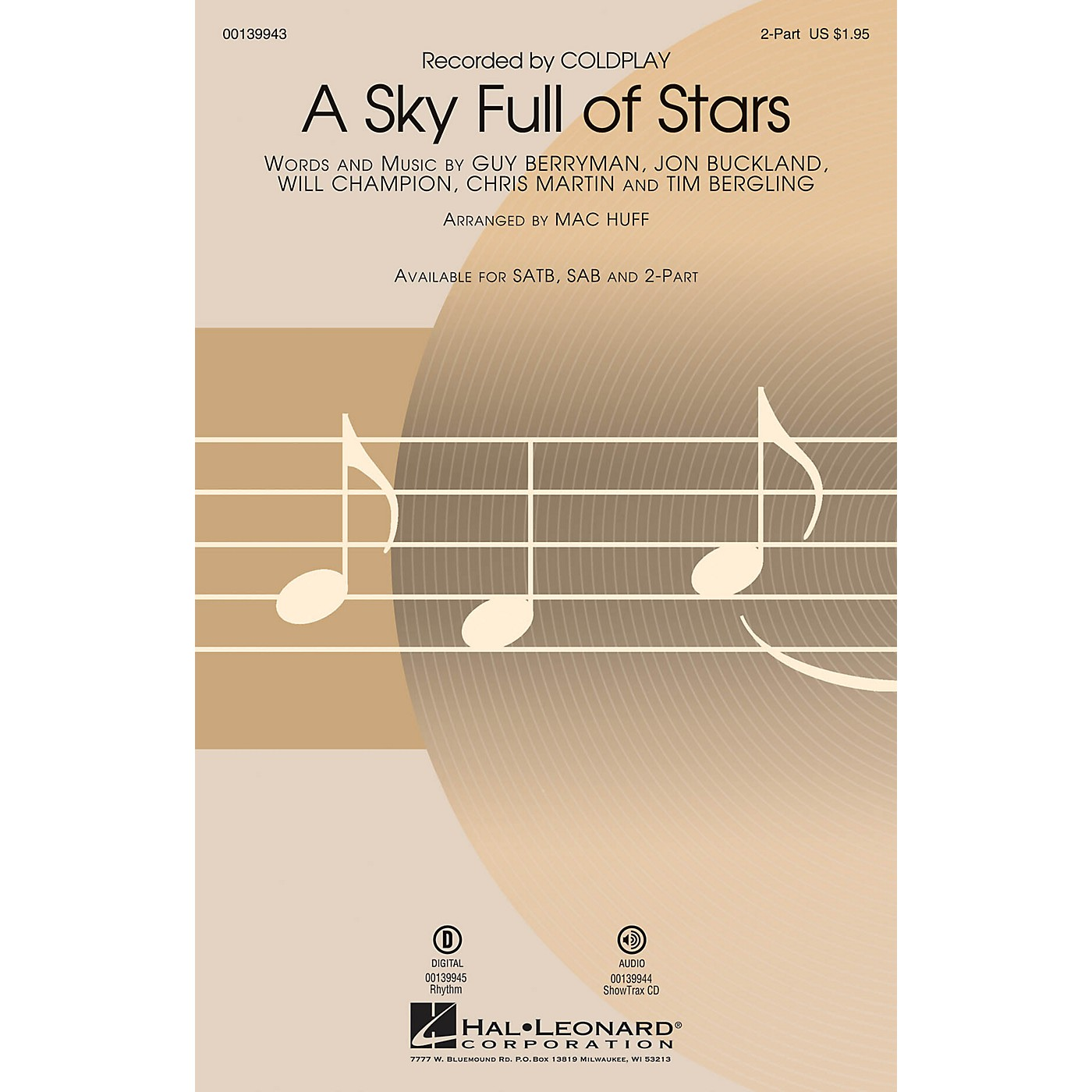 Hal Leonard A Sky Full of Stars 2-Part by Coldplay arranged by Mac Huff thumbnail