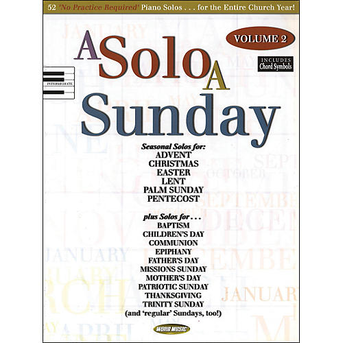 Word Music A Solo A Sunday Volume 2 Piano Solo-thumbnail