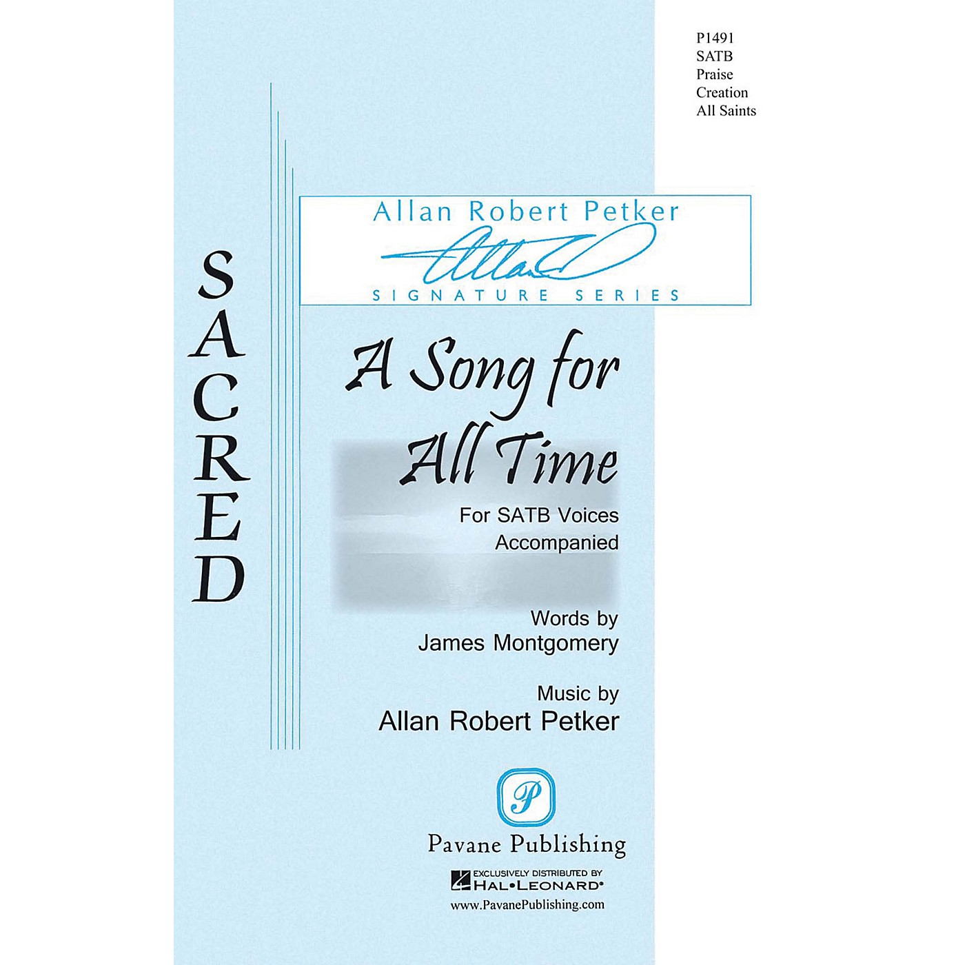 Pavane A Song for All Time SATB composed by Allan Robert Petker thumbnail