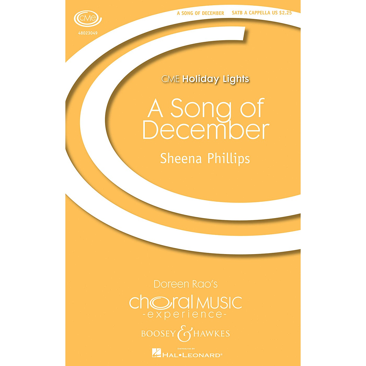 Boosey and Hawkes A Song of December (CME Holiday Lights) SATB composed by Sheena Phillips thumbnail