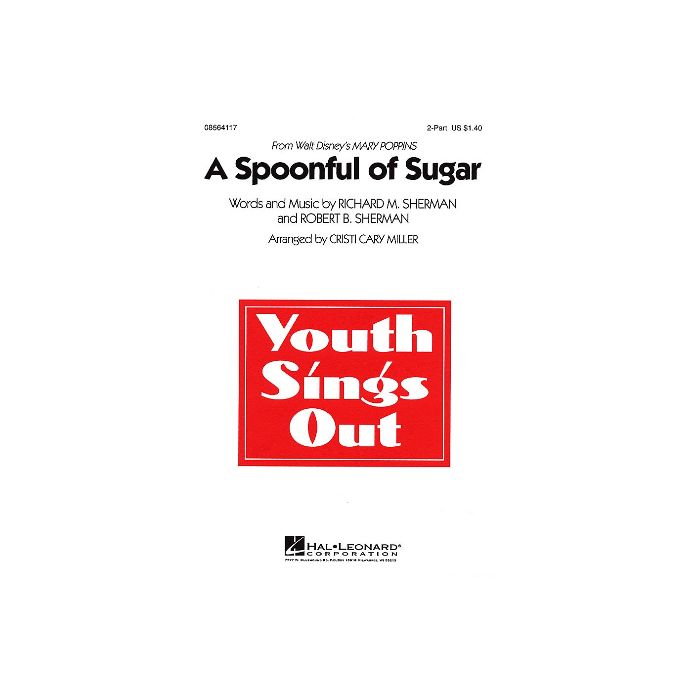 Hal Leonard A Spoonful of Sugar (from Mary Poppins) 2-Part arranged by Cristi Cary Miller thumbnail