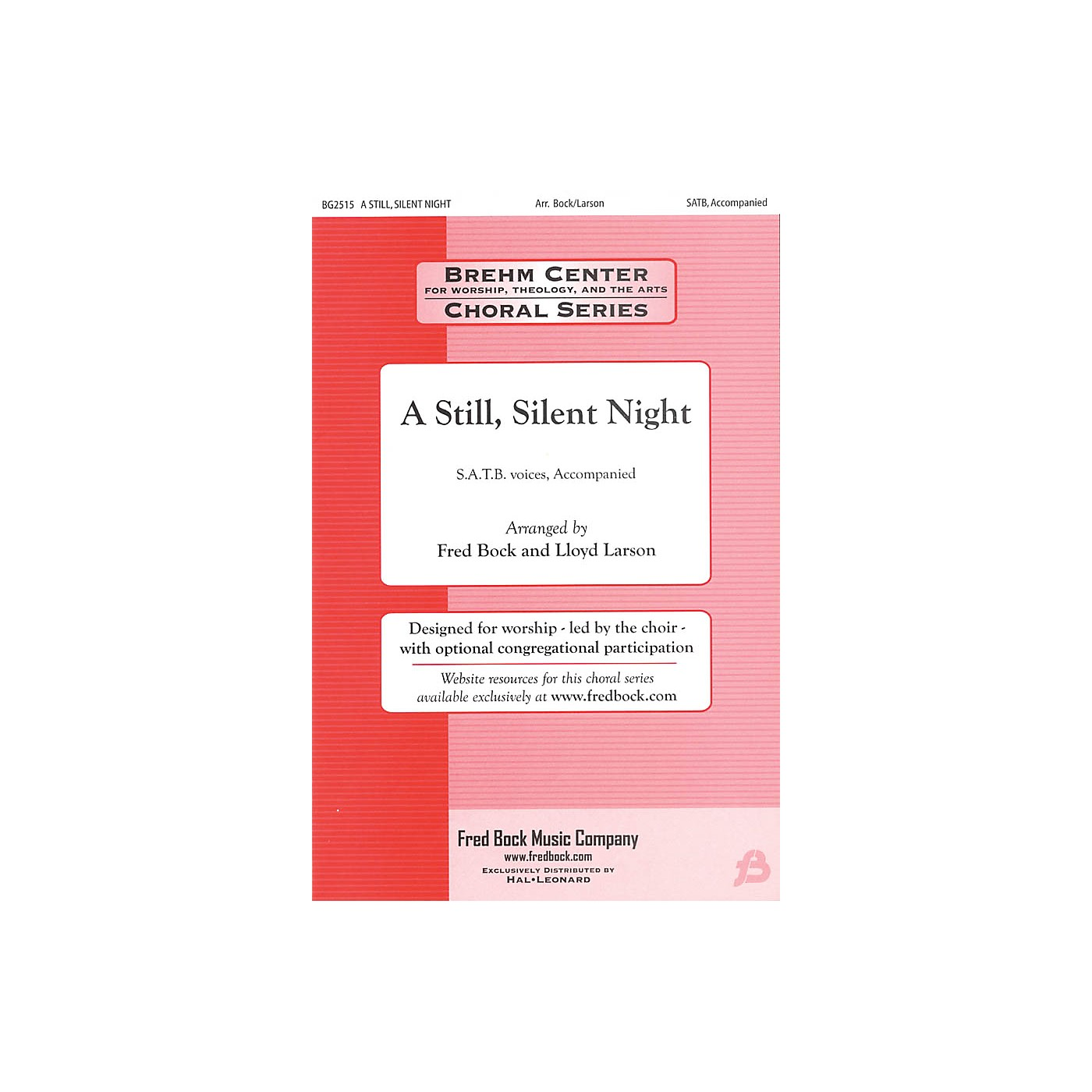 Fred Bock Music A Still, Silent Night SATB Congregation arranged by Fred Bock thumbnail