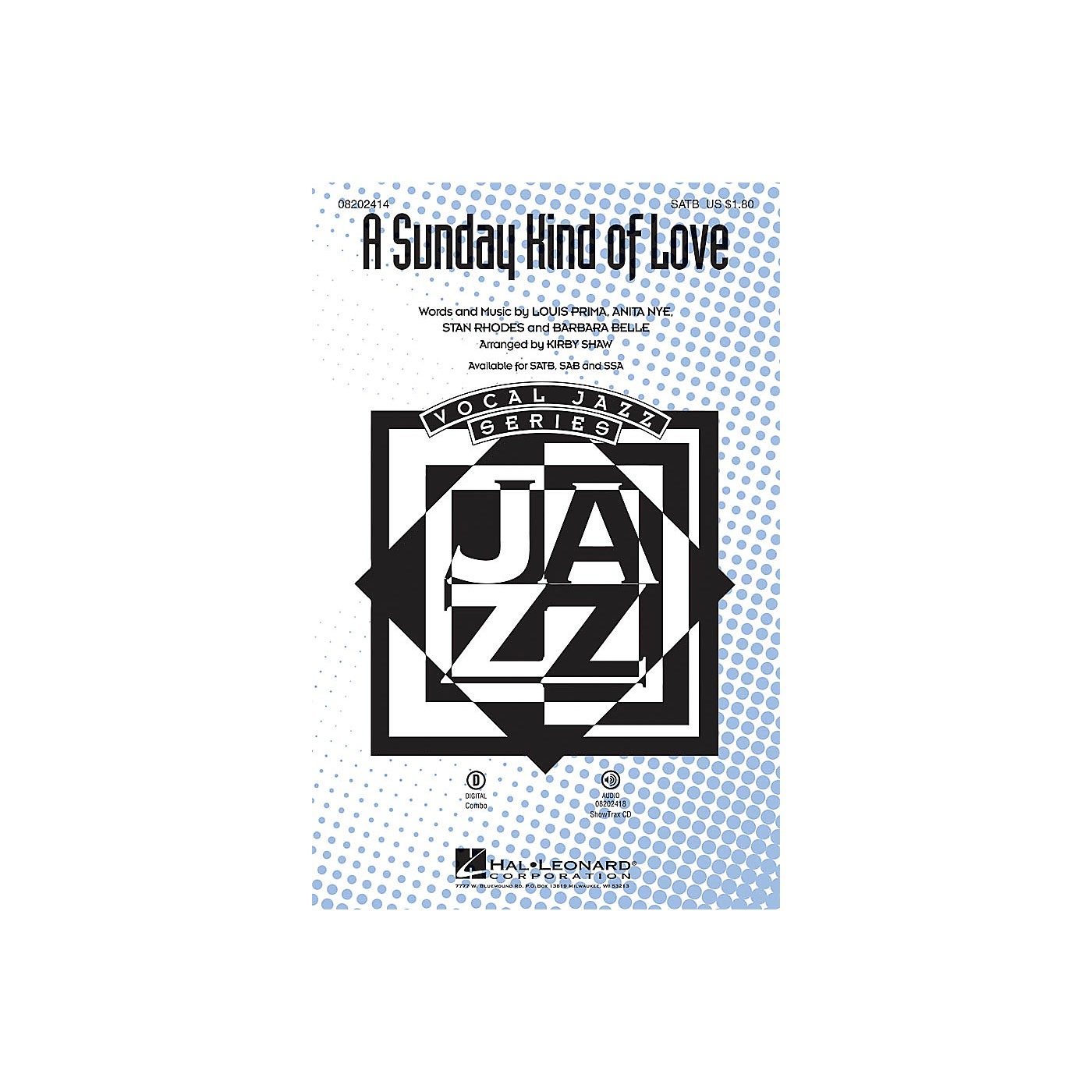 Hal Leonard A Sunday Kind of Love SATB arranged by Kirby Shaw thumbnail