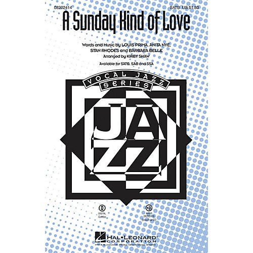 Hal Leonard A Sunday Kind of Love SATB arranged by Kirby Shaw thumbnail