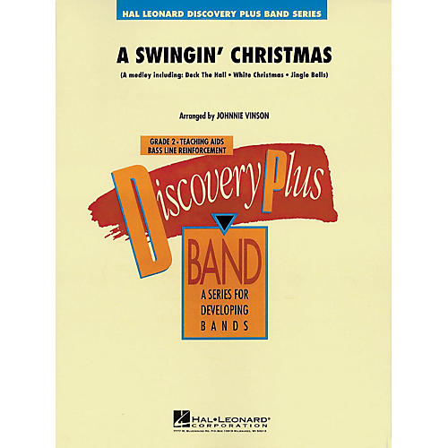 Hal Leonard A Swingin' Christmas - Discovery Plus Concert Band Series Level 2 arranged by Johnnie Vinson thumbnail
