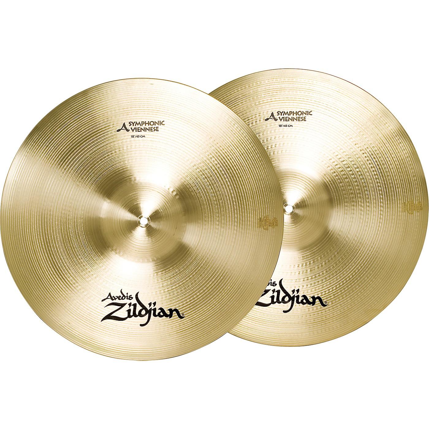 Zildjian A Symphonic Viennese Tone Crash Cymbal Pair thumbnail