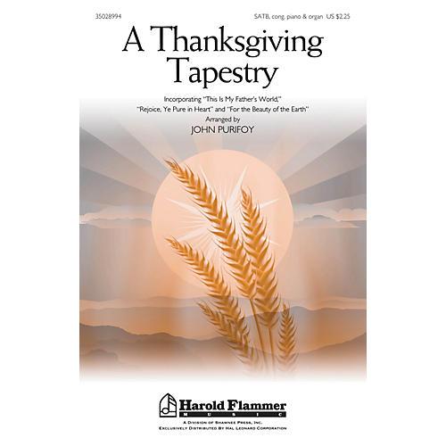 Shawnee Press A Thanksgiving Tapestry SATB, PIANO AND ORGAN arranged by John Purifoy thumbnail