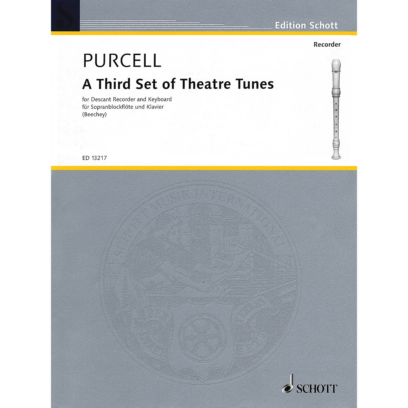 Schott A Third Set of Theatre Tunes (Descant Recorder and Piano) Woodwind Series CD thumbnail