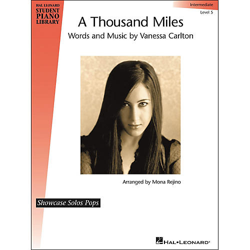 Hal Leonard A Thousand Miles - Showcase Solo Level 5 Intermediate Hal Leonard Student Piano Library by Mona Rejino thumbnail