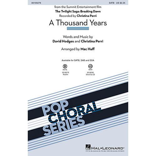 Hal Leonard A Thousand Years SSA by Christina Perri Arranged by Mac Huff thumbnail