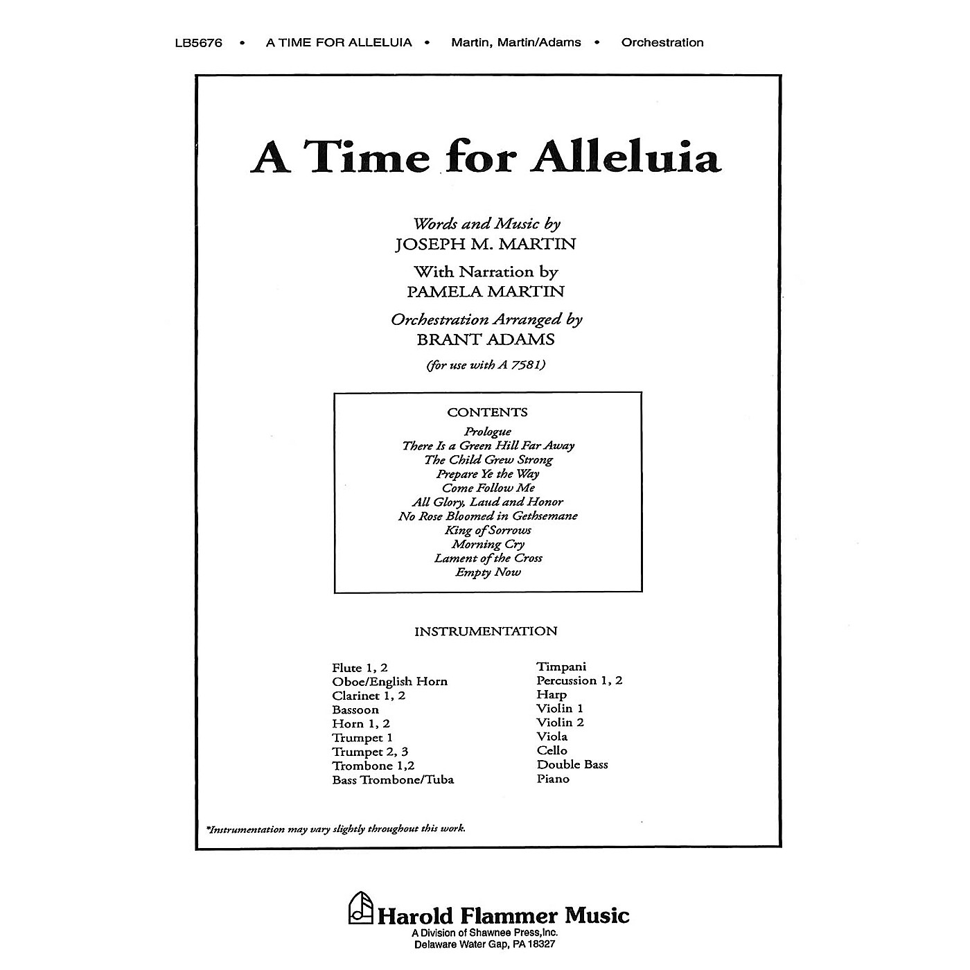 Shawnee Press A Time for Alleluia Score & Parts composed by Joseph M. Martin thumbnail