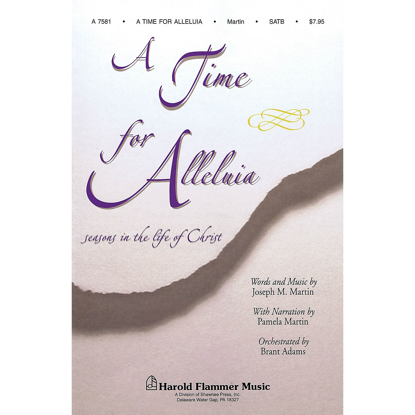 Shawnee Press A Time for Alleluia Studiotrax CD Composed by Joseph M. Martin thumbnail