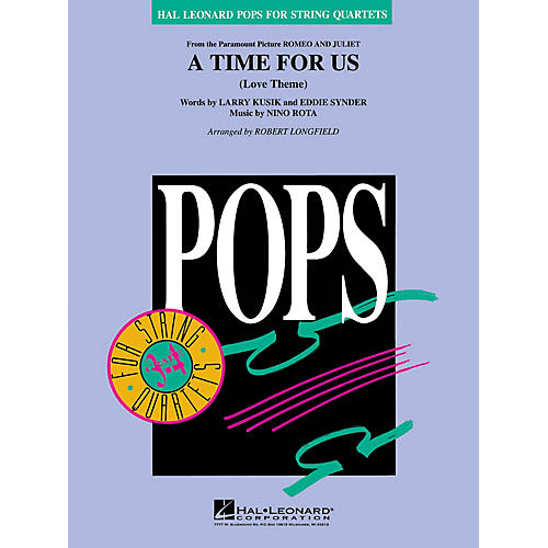 Hal Leonard A Time for Us (from Romeo and Juliet) Pops For String Quartet Series Arranged by Robert Longfield thumbnail