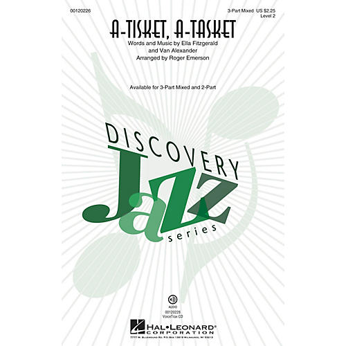 Hal Leonard A-Tisket, A-Tasket (Discovery Level 2) 3-Part Mixed by Ella Fitzgerald arranged by Roger Emerson thumbnail
