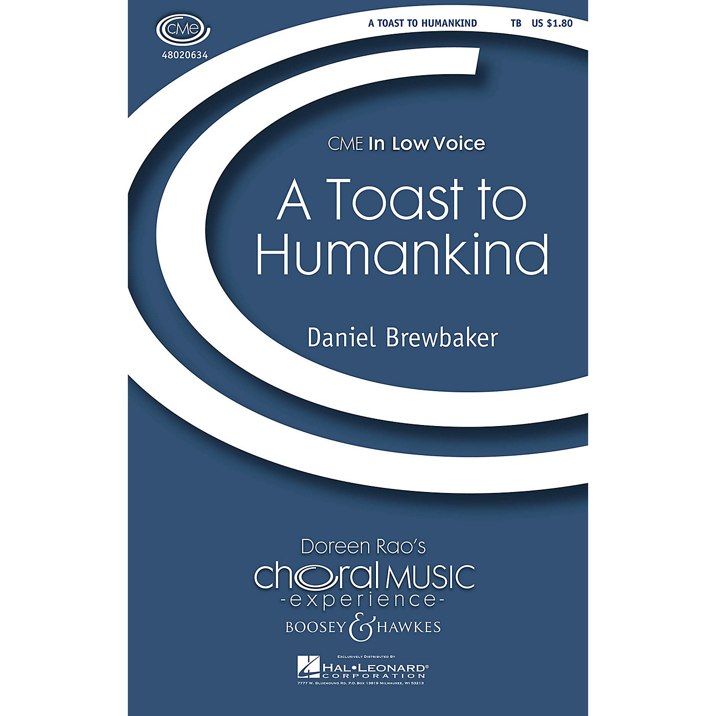 Boosey and Hawkes A Toast to Humankind (CME In Low Voice) TB composed by Daniel Brewbaker thumbnail