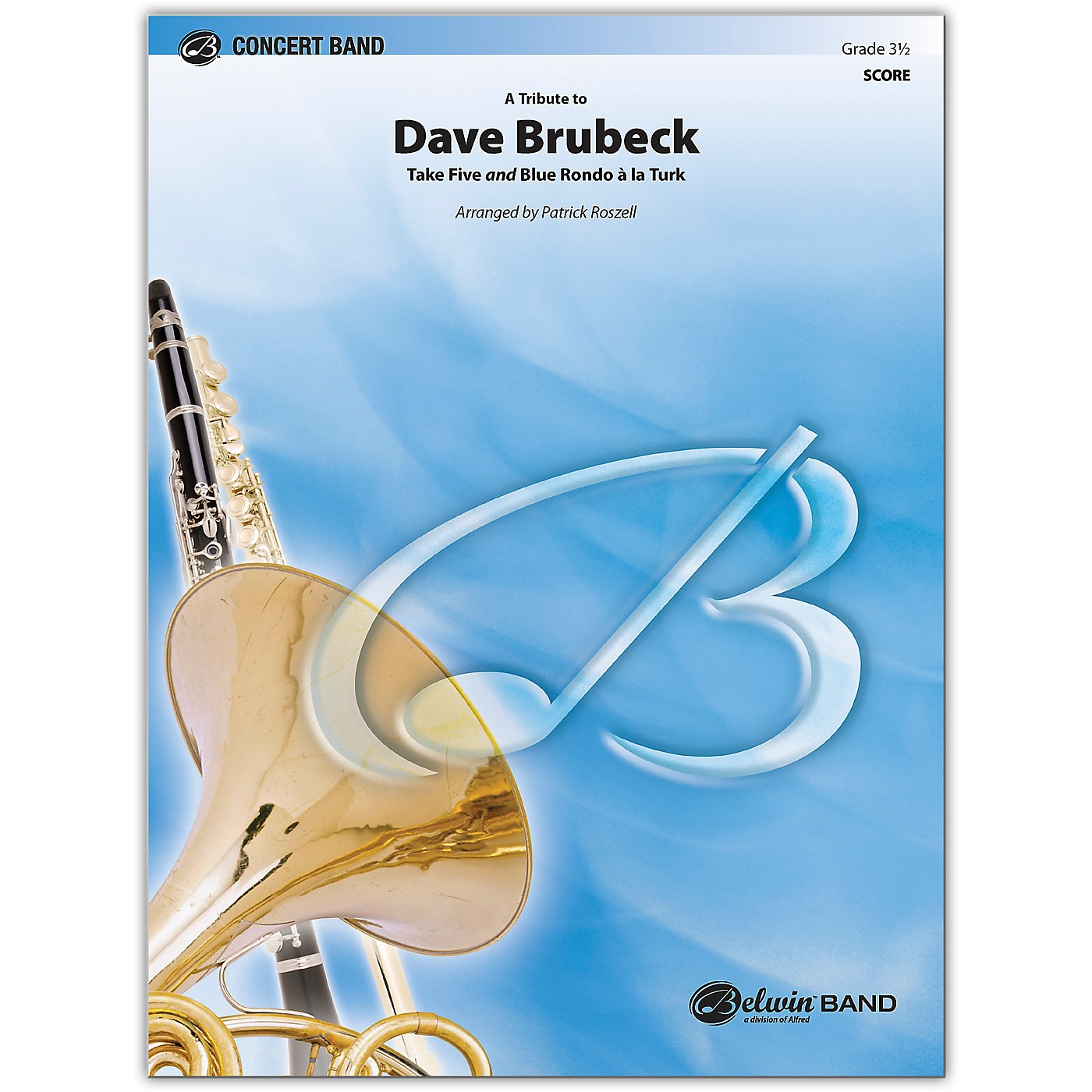 BELWIN A Tribute to Dave Brubeck Conductor Score 3.5 (Medium Easy to Medium) thumbnail