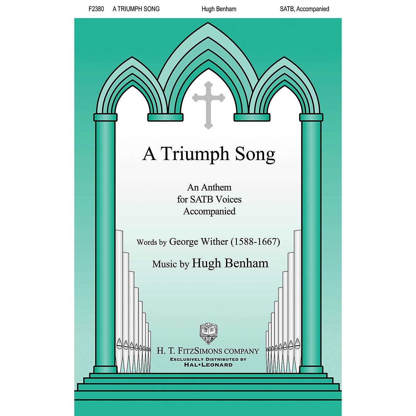H.T. FitzSimons Company A Triumph Song SATB composed by Hugh Benham thumbnail
