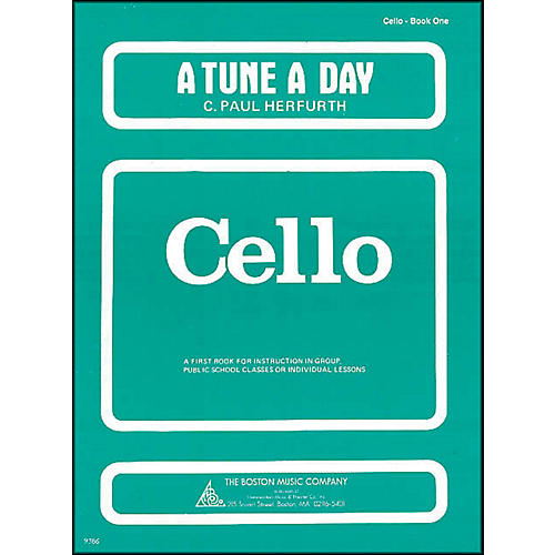 Music Sales A Tune A Day for Cello Book 1 thumbnail