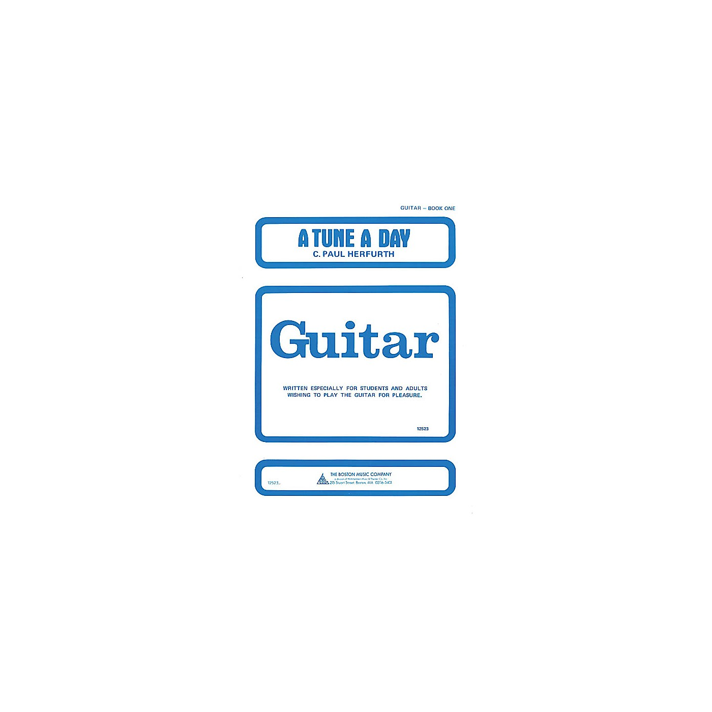 Music Sales A Tune a Day - Guitar (Book 1) Music Sales America Series Written by C. Paul Herfurth thumbnail