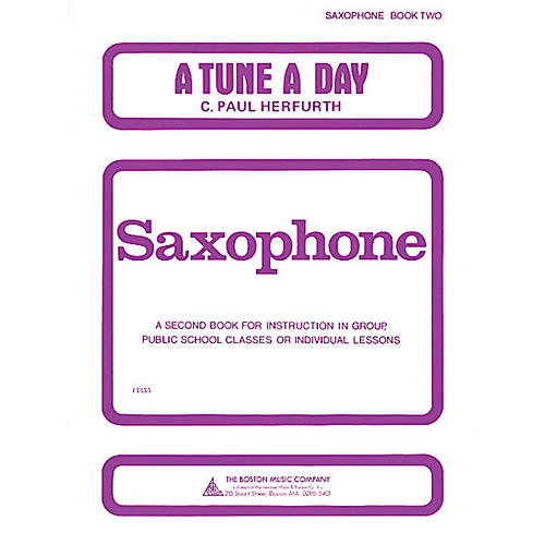 Music Sales A Tune a Day - Saxophone (Book 2) Music Sales America Series Written by C. Paul Herfurth thumbnail