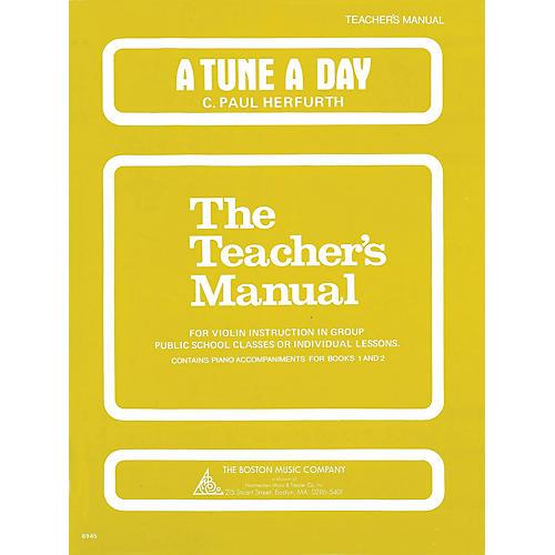 Music Sales A Tune a Day - Violin (Teacher's Manual) Music Sales America Series Written by C. Paul Herfurth thumbnail