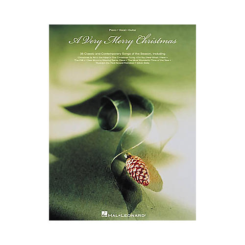 Hal Leonard A Very Merry Christmas Piano, Vocal, Guitar Songbook thumbnail