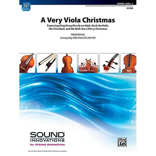 Alfred A Very Viola Christmas String Orchestra Grade 2 thumbnail
