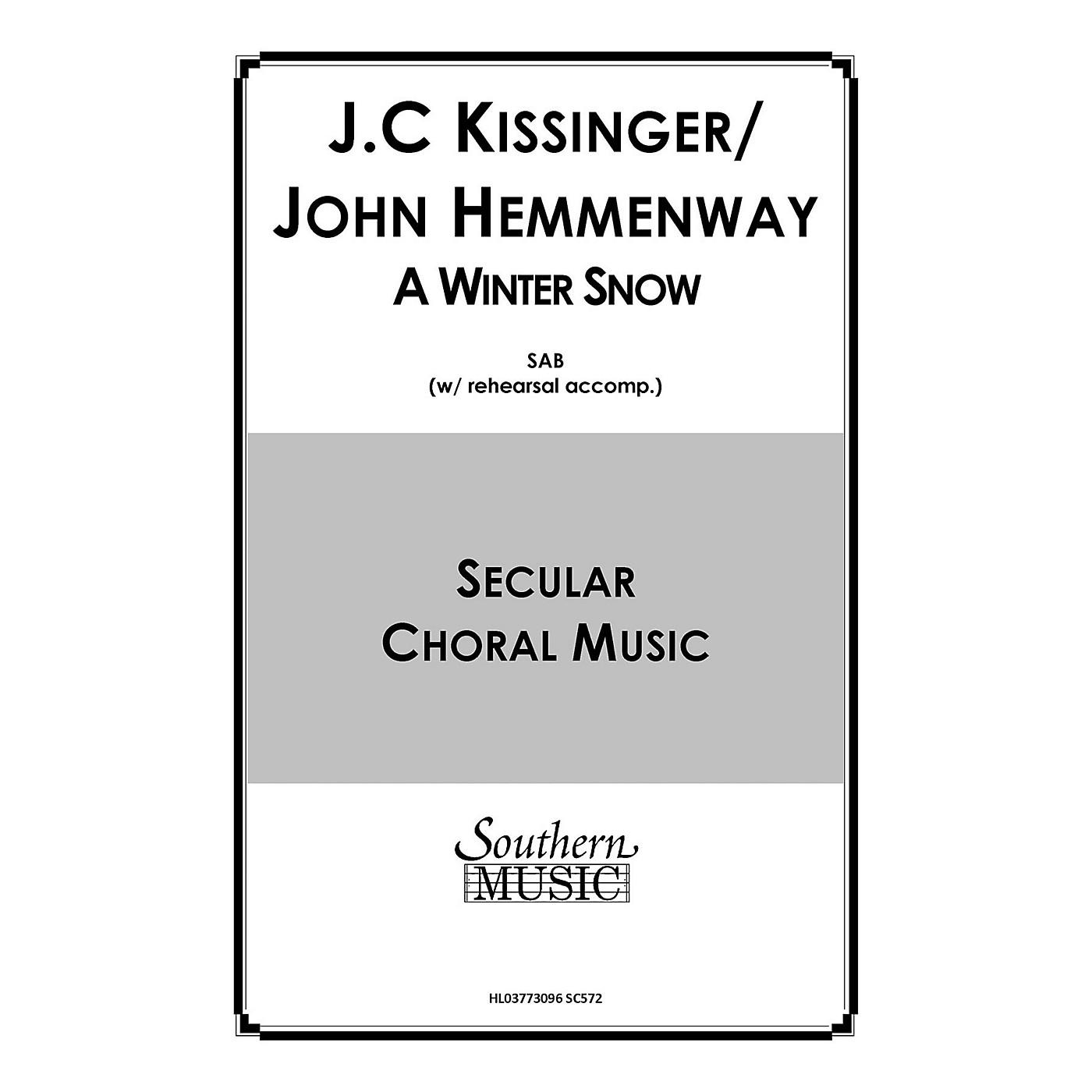 Hal Leonard A Winter Snow (Choral Music/Octavo Secular Satb) SATB Composed by Hemmenway, John thumbnail