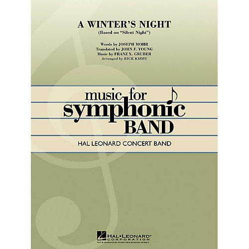Hal Leonard A Winter's Night (based on Silent Night) Concert Band Level 4 Arranged by Rick Kirby thumbnail