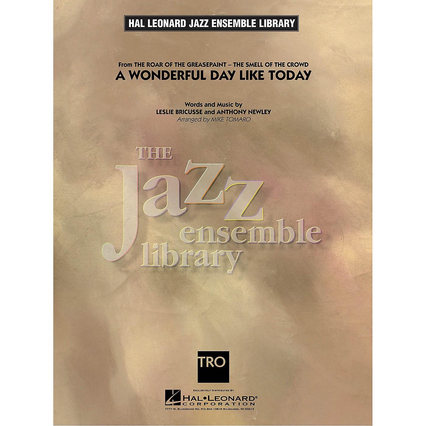 Hal Leonard A Wonderful Day Like Today Jazz Band Level 4 Arranged by Mike Tomaro thumbnail