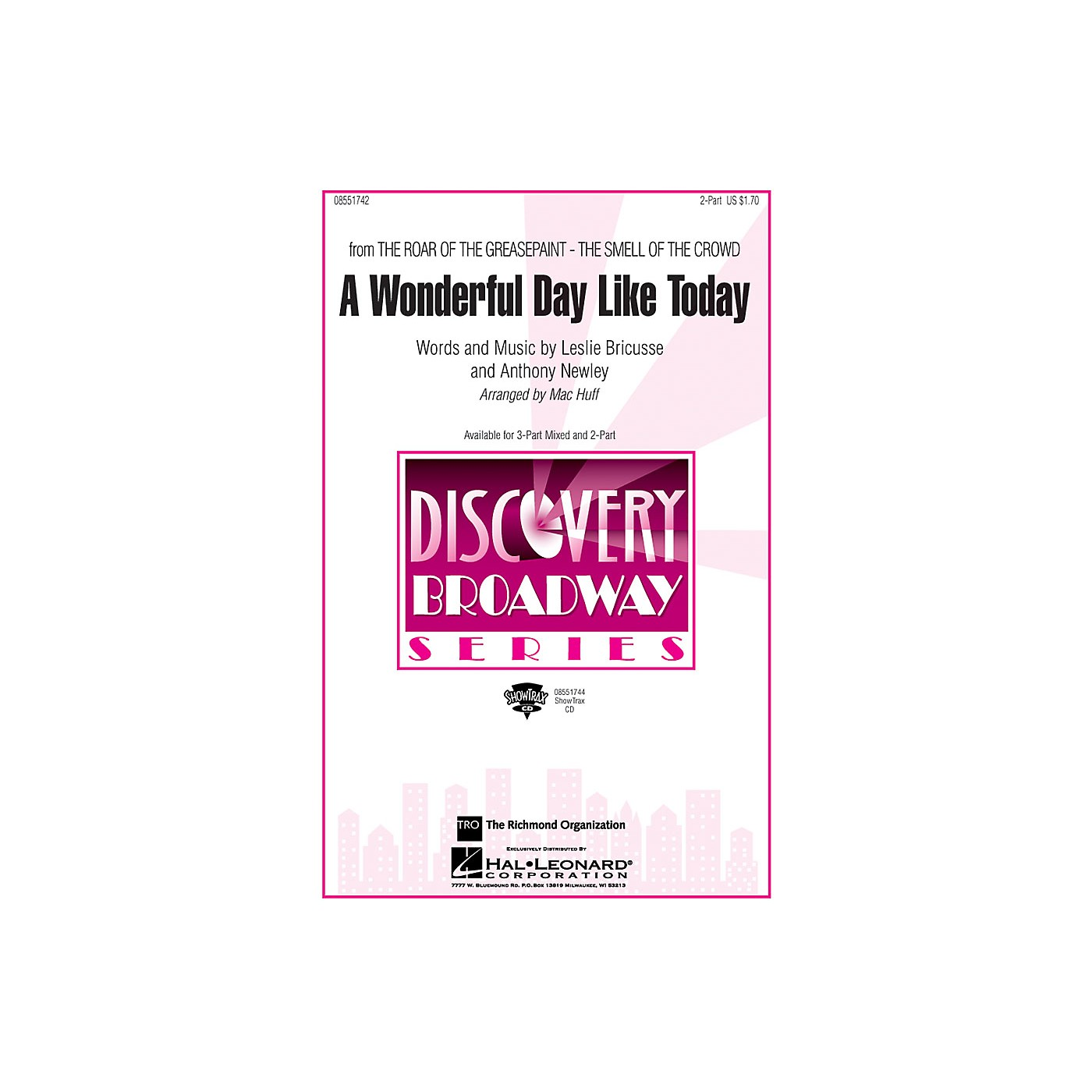 Hal Leonard A Wonderful Day Like Today (from The Roar of the Greasepaint, The Smell of the Crowd) 2-Part by Mac Huff thumbnail
