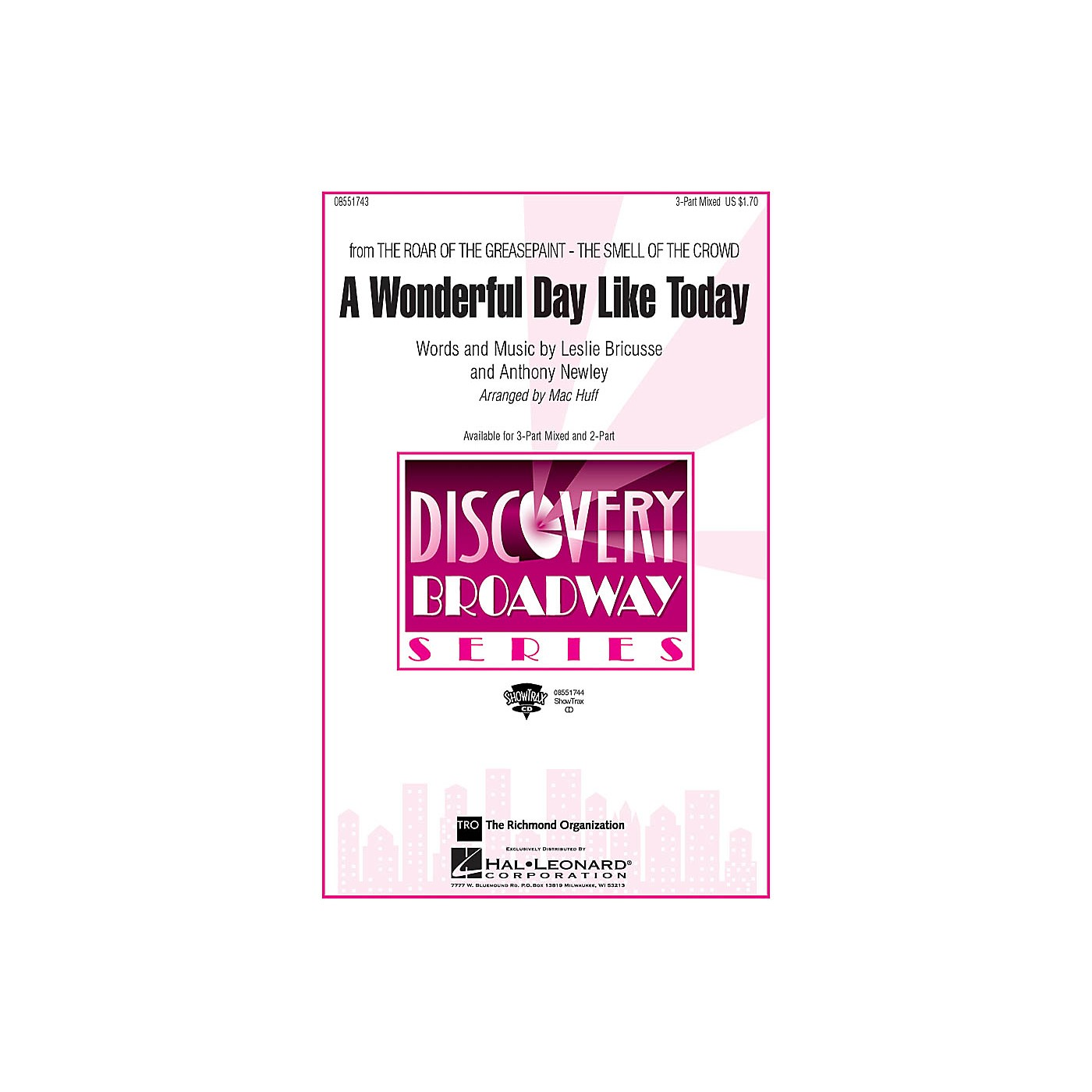 Hal Leonard A Wonderful Day Like Today (from The Roar of the Greasepaint, The Smell of the Crowd) 3-Part by Mac Huff thumbnail