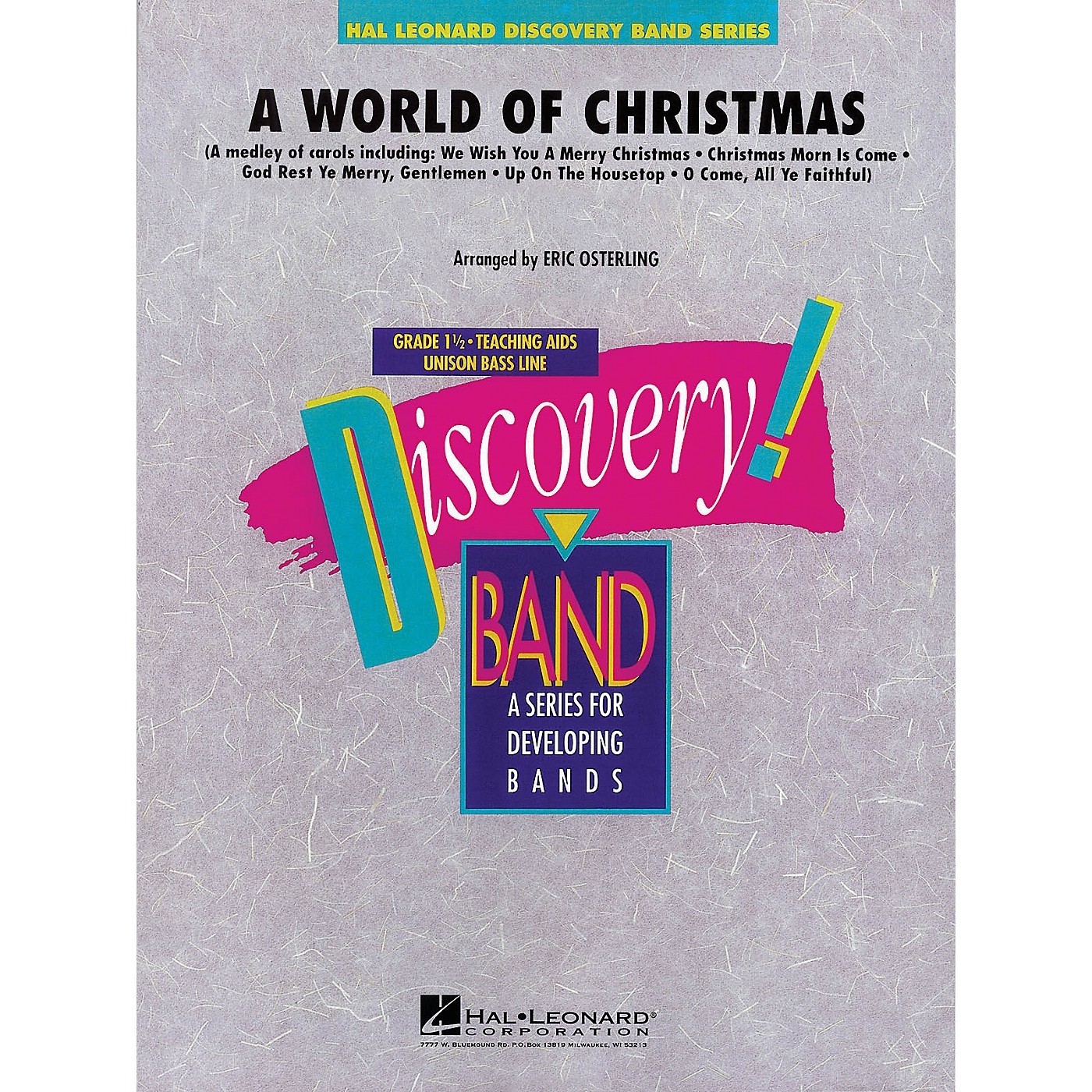 Hal Leonard A World of Christmas Concert Band Level 1.5 Arranged by Eric Osterling thumbnail