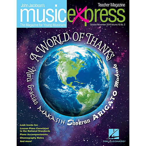 Hal Leonard A World of Thanks Vol. 15 No. 2 (October/November 2014) Teacher Magazine w/CD Composed by John Jacobson thumbnail